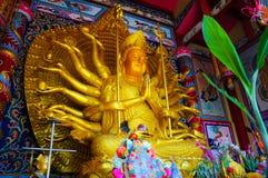 Immagine dorata del buddha Immagini Stock