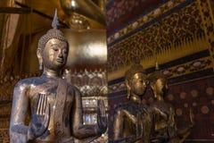 Immagine dorata del buddha Fotografie Stock Libere da Diritti