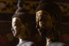 Immagine dorata del buddha Fotografia Stock