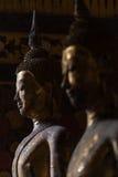 Immagine dorata del buddha fotografie stock