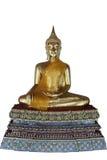 Immagine dorata del Buddha in Tailandia Fotografia Stock