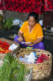 Immagine editoriale documentaria Mercato tipico a Bali immagini stock libere da diritti