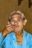 Immagine editoriale documentaria Ritratto dell'agricoltore anziano di balinese Immagini Stock Libere da Diritti