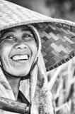 Immagine editoriale documentaria Ritratto della lavoratrice agricola Immagine Stock Libera da Diritti