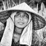 Immagine editoriale documentaria Ritratto della lavoratrice agricola Immagini Stock Libere da Diritti