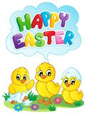 Immagine felice 5 di tema del segno di Pasqua Immagini Stock Libere da Diritti