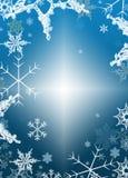 Immagine-fiocchi di neve della priorità bassa di inverno di festa Immagini Stock Libere da Diritti