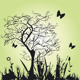 Immagine floreale di stile illustrazione di stock