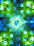 Immagine futuristica blu-verde Immagine Stock Libera da Diritti