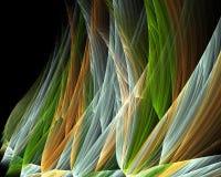 Immagine generata da computer di frattale con erba Fotografia Stock