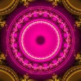 Immagine generata da computer di frattale multicolore luminoso astratto Immagine Stock Libera da Diritti