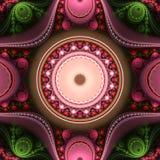 Immagine generata da computer di frattale multicolore luminoso astratto Immagini Stock