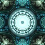 Immagine generata da computer di frattale multicolore luminoso astratto Fotografie Stock Libere da Diritti