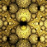 Immagine generata da computer di frattale sferico giallo astratto Immagine Stock Libera da Diritti