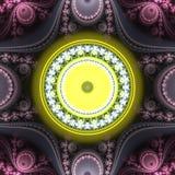 Immagine generata da computer di frattale sferico multicolore luminoso astratto Fotografia Stock
