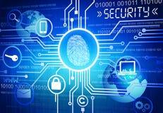 Immagine generata del concetto online di sicurezza Fotografia Stock Libera da Diritti