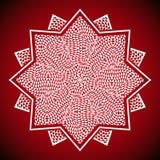 Immagine geometrica della mandala su fondo rosso Immagini Stock Libere da Diritti