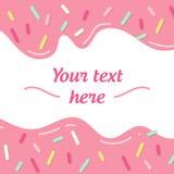 Immagine geometrica semplice con linee ed ombre del campione del testo le piccole Linee grafiche Crema della ciambella Immagine Stock