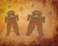 Immagine grafica antica di Wandjina Immagine Stock