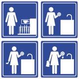Immagine grafica - piatti di lavaggio Fotografia Stock Libera da Diritti