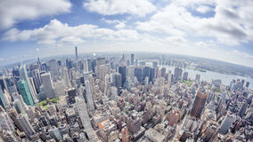 Immagine grandangolare di New York Manhattan Fotografie Stock Libere da Diritti