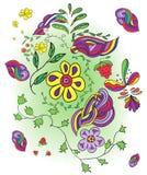Immagine infantile disegnata a mano Immagini Stock