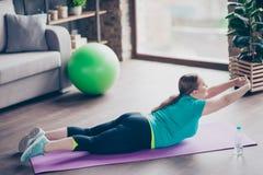 Immagine 100% integrale di obeso grasso attivo emozionante felice Immagine Stock Libera da Diritti