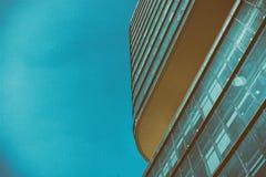 Immagine invecchiata di stile dell'edificio per uffici moderno di architettura Fotografie Stock