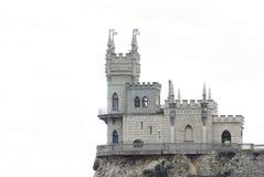 Immagine isolata del castello del nido dello Swallow fotografia stock