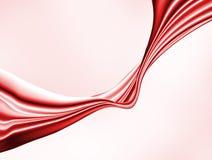 Immagine isolata del panno rosso astratto su un fondo bianco, illustrazione vettoriale