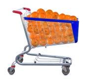 Immagine isolata di molte arance fotografie stock