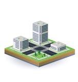 Immagine isometrica della città Fotografie Stock Libere da Diritti