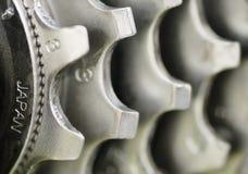 Immagine a macroistruzione, insieme posteriore dell'attrezzo. Fotografia Stock