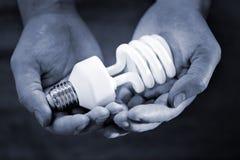 Lampadina fluorescente Fotografia Stock Libera da Diritti