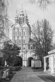 immagine monocromatica Trasfigurazione sopra - gate la chiesa nel convento di Novodevichy, Mosca Fotografia Stock Libera da Diritti