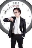 Immagine motivazionale: Tempo per successo Immagini Stock Libere da Diritti