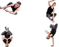 Immagine multipla del break dance del giovane immagini stock libere da diritti