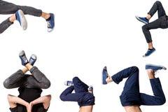 Immagine multipla del break dance del giovane fotografia stock libera da diritti