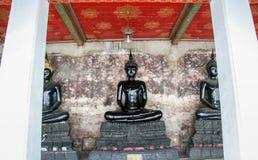 Immagine nera del monaco di Buddha Fotografie Stock Libere da Diritti