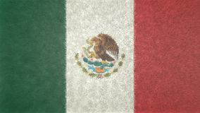 Immagine originale della bandiera del Messico 3D royalty illustrazione gratis