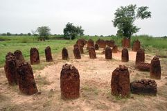 Immagine orizzontale dei cerchi di pietra 2 di Wassu Immagini Stock