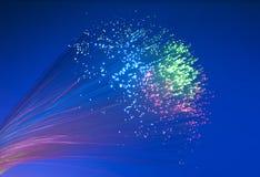 Immagine ottica della fibra con i particolari e la luce Immagine Stock