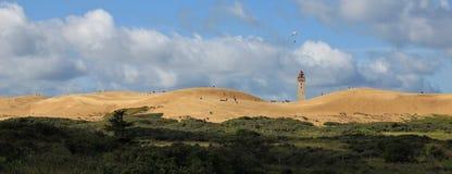 Immagine panoramica del Rubjerg Knude, alta duna di sabbia in Jylland, Immagini Stock