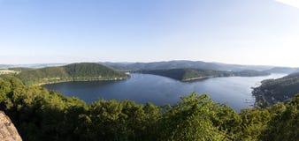 Immagine panoramica di alta risoluzione della Germania del lago Edersee Immagini Stock Libere da Diritti