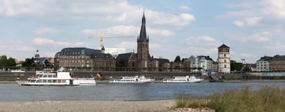 Immagine panoramica di alta risoluzione di Duesseldorf Germania Fotografie Stock