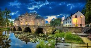 Immagine panoramica di HDR del castello di Orebro Fotografia Stock