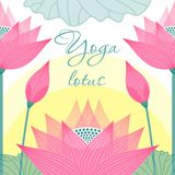 Immagine per il loto degli studi di yoga sui precedenti immagine stock