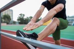 Immagine potata dell'atleta del giovane Fotografia Stock Libera da Diritti