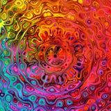 Immagine quadrata di forma Modello variopinto unico Concetto grafico artistico Schermo di computer dell'illustrazione di arte Pri royalty illustrazione gratis