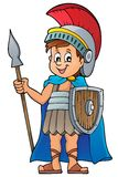 Immagine romana 1 di tema del soldato Immagini Stock